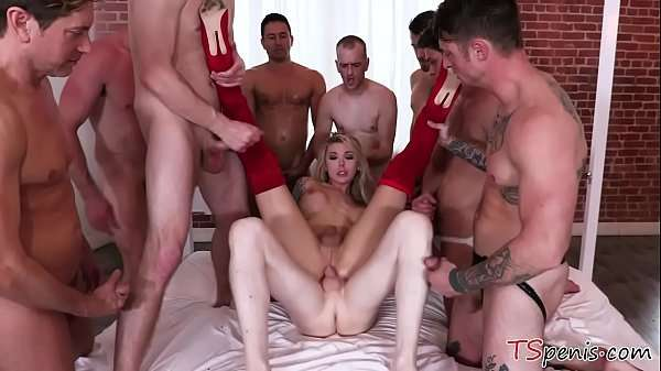 transsexual xnxx Sex Party Turned into Mass Sex